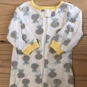 Infant (3-6 month) Duck Patterned Footie Pajamas